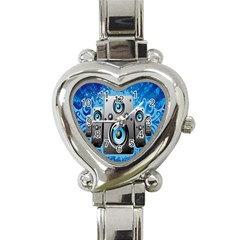 Sound System Music Disco Party Heart Italian Charm Watch by Mariart