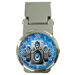 Sound System Music Disco Party Money Clip Watches by Mariart