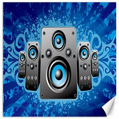 Sound System Music Disco Party Canvas 20  X 20   by Mariart