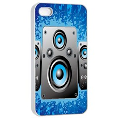 Sound System Music Disco Party Apple Iphone 4/4s Seamless Case (white) by Mariart