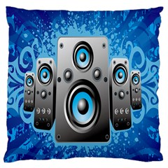 Sound System Music Disco Party Large Cushion Case (two Sides) by Mariart