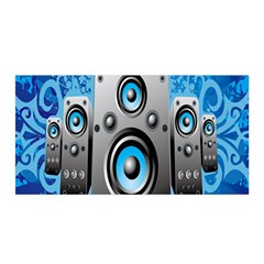 Sound System Music Disco Party Satin Wrap by Mariart