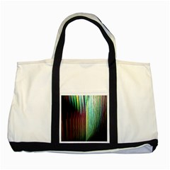 Screen Shot Line Vertical Rainbow Two Tone Tote Bag by Mariart