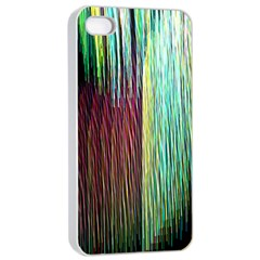 Screen Shot Line Vertical Rainbow Apple Iphone 4/4s Seamless Case (white) by Mariart