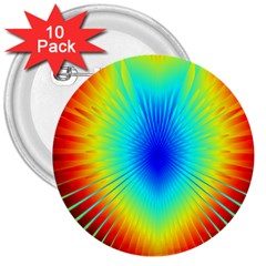 View Max Gain Resize Flower Floral Light Line Chevron 3  Buttons (10 Pack)  by Mariart