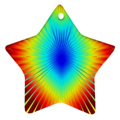 View Max Gain Resize Flower Floral Light Line Chevron Star Ornament (two Sides) by Mariart