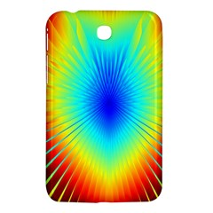 View Max Gain Resize Flower Floral Light Line Chevron Samsung Galaxy Tab 3 (7 ) P3200 Hardshell Case  by Mariart