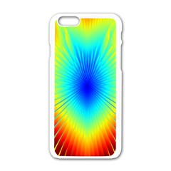 View Max Gain Resize Flower Floral Light Line Chevron Apple Iphone 6/6s White Enamel Case by Mariart
