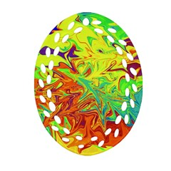 Colors Oval Filigree Ornament (two Sides) by Valentinaart