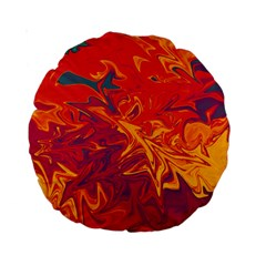 Colors Standard 15  Premium Round Cushions by Valentinaart