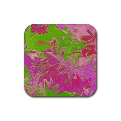 Colors Rubber Square Coaster (4 Pack)  by Valentinaart