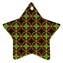 Kiwi Like Pattern Star Ornament (two Sides) by linceazul