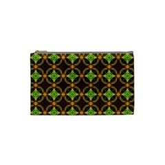 Kiwi Like Pattern Cosmetic Bag (small)  by linceazul