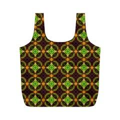 Kiwi Like Pattern Full Print Recycle Bags (m)  by linceazul