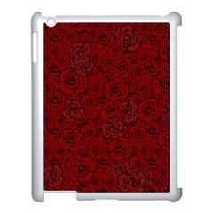 Red Roses Field Apple Ipad 3/4 Case (white) by designworld65
