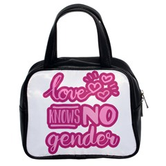 Love Knows No Gender Classic Handbags (2 Sides) by Valentinaart