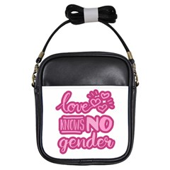 Love Knows No Gender Girls Sling Bags by Valentinaart