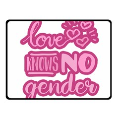 Love Knows No Gender Fleece Blanket (small) by Valentinaart