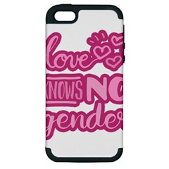 Love Knows No Gender Apple Iphone 5 Hardshell Case (pc+silicone) by Valentinaart