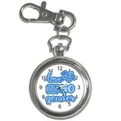 Love Knows No Gender Key Chain Watches by Valentinaart