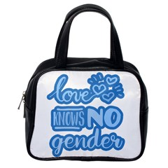 Love Knows No Gender Classic Handbags (one Side) by Valentinaart
