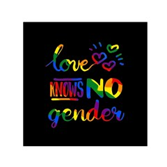 Love Knows No Gender Small Satin Scarf (square) by Valentinaart