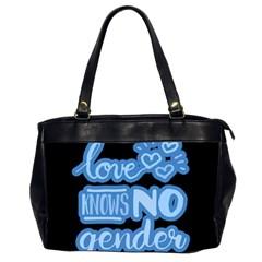 Love Knows No Gender Office Handbags (2 Sides)  by Valentinaart