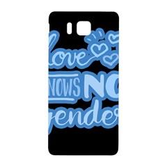 Love Knows No Gender Samsung Galaxy Alpha Hardshell Back Case by Valentinaart
