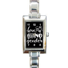 Love Knows No Gender Rectangle Italian Charm Watch by Valentinaart