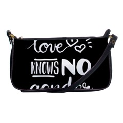 Love Knows No Gender Shoulder Clutch Bags by Valentinaart