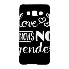 Love Knows No Gender Samsung Galaxy A5 Hardshell Case  by Valentinaart