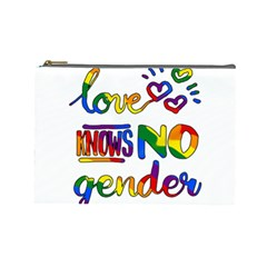 Love Knows No Gender Cosmetic Bag (large)  by Valentinaart