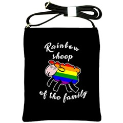 Rainbow Sheep Shoulder Sling Bags by Valentinaart