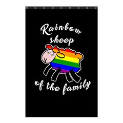 Rainbow Sheep Shower Curtain 48  X 72  (small)  by Valentinaart