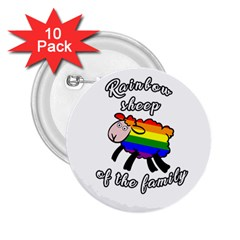 Rainbow Sheep 2 25  Buttons (10 Pack)  by Valentinaart