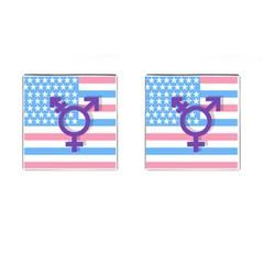 Transgender Flag Cufflinks (square) by Valentinaart