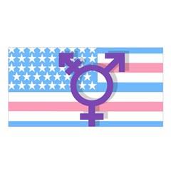 Transgender Flag Satin Shawl by Valentinaart