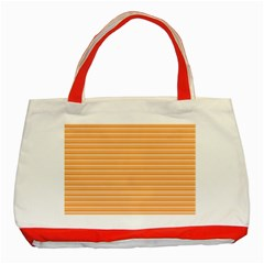Lines Pattern Classic Tote Bag (red) by Valentinaart