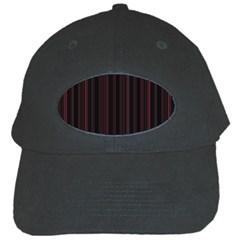 Lines Pattern Black Cap by Valentinaart