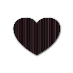 Lines Pattern Rubber Coaster (heart)  by Valentinaart