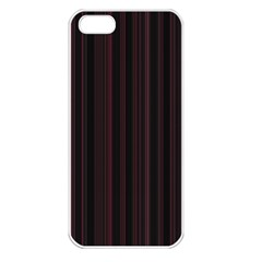 Lines Pattern Apple Iphone 5 Seamless Case (white) by Valentinaart