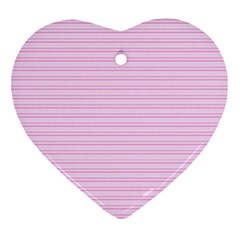 Lines Pattern Heart Ornament (two Sides) by Valentinaart