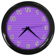 Lines Pattern Wall Clocks (black) by Valentinaart