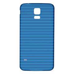 Lines Pattern Samsung Galaxy S5 Back Case (white) by Valentinaart