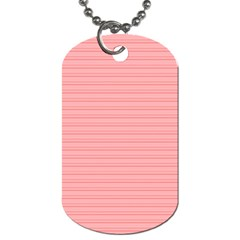Lines Pattern Dog Tag (one Side) by Valentinaart