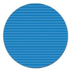 Lines Pattern Magnet 5  (round) by Valentinaart