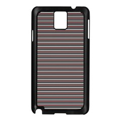 Lines Pattern Samsung Galaxy Note 3 N9005 Case (black) by Valentinaart