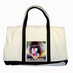 Bow To The Mandrill Two Tone Tote Bag by RakeClag