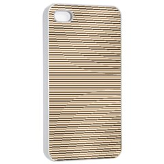 Lines Pattern Apple Iphone 4/4s Seamless Case (white) by Valentinaart