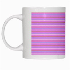 Lines Pattern White Mugs by Valentinaart